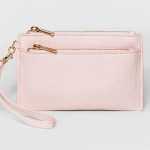 Handbags - Palest blush pink faux leather clutch by A New Day